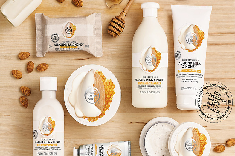 body shop almond milk and honey