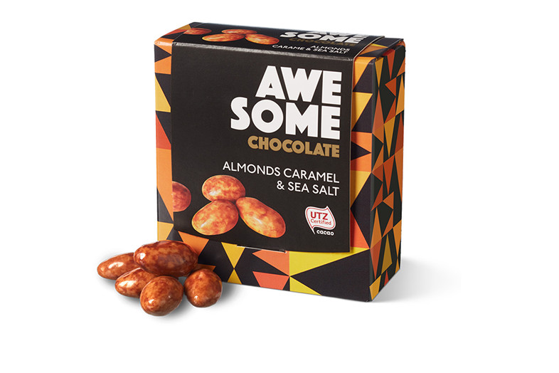 awesome chocolate almonds caramel sea salt