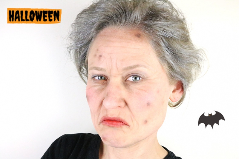 Old Lady Halloween Make-up!