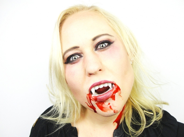 Vampiers make-up met Halloween