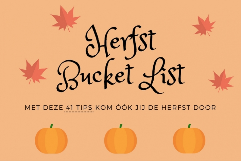 herfst bucket list