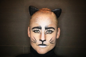 Katten make-up met Halloween!