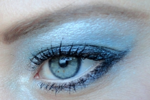 Winterse make-up look