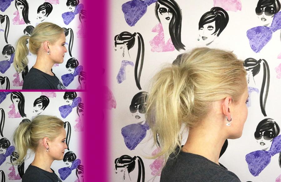 Magnifiek Volle paardenstaart maken met dun haar @YJ34