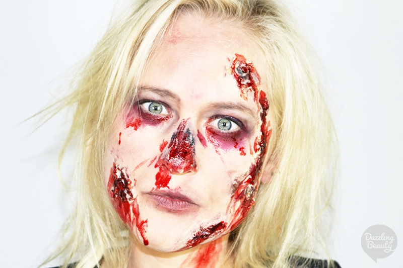 Zombie Make-up Look voor Halloween!